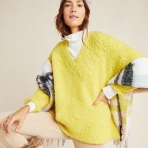 Anthropologie Simone Chartreuse Yellow Sweater NEW
